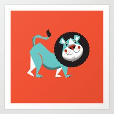 Evan the lion Art Print