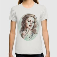 HunkyDory Womens Fitted Tee Silver SMALL