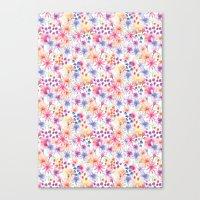 Watercolour Floral Canvas Print