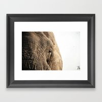 Elephant, Into The Wild.… Framed Art Print