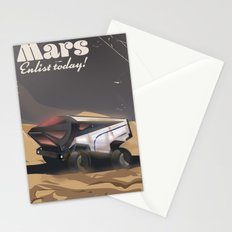 Mars, Enlist Today! Mars Rover travel poster Stationery Cards