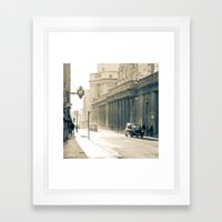 Old Street That Vanishes Framed Art Print