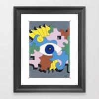 Patterned Eyes | The Lef… Framed Art Print