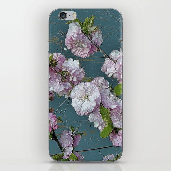 Vintage Pink Blossoms iPhone & iPod Skin