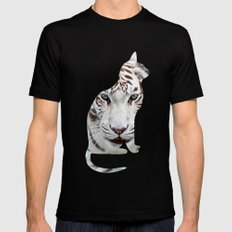 White cats. Black SMALL Mens Fitted Tee