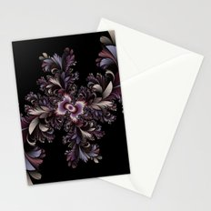 Feather flowers Stationery Cards