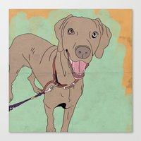 Dog walk Canvas Print