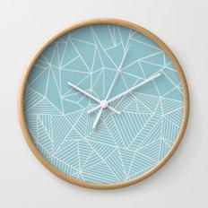 Ab Half and Half Salt Wall Clock