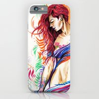 iPhone & iPod Case featuring Natalie by EMLART