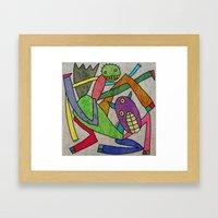 Hors and man Framed Art Print
