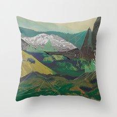 Buffalo Mountains Throw Pillow