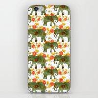 Wading Elephants iPhone & iPod Skin