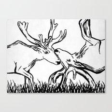 Reverse Caribou Canvas Print