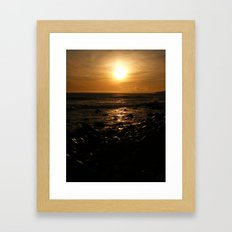 Spring Time Sunset Framed Art Print