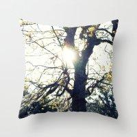 Golden Moss Throw Pillow