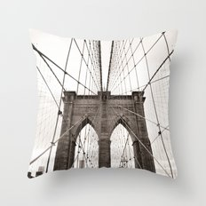 Brooklyn Bridge Arches Throw Pillow