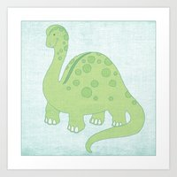 Deeno the Dino Art Print