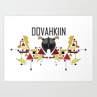 Skyrim: The Dovahkiin - RED (Skyrim) Art Print