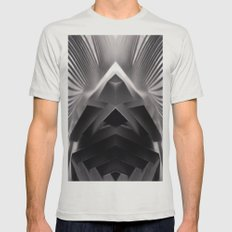 Paper Sculpture #7 Mens Fitted Tee Silver SMALL