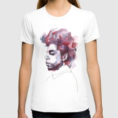 Prince Womens Fitted Tee White SMALL