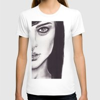 Under Your Bed (Natalie Portman)  Womens Fitted Tee White SMALL