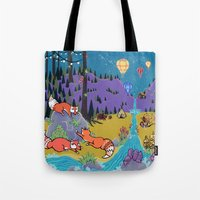Foxy Forest Tote Bag