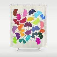 Ginkgo Multicolor Shower Curtain