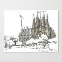 Sagrada Familia, Barcelona Canvas Print