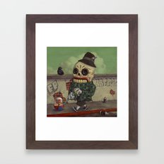 Kicking It Old School. Framed Art Print