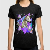 ACID WAVVES Womens Fitted Tee Tri-Black SMALL