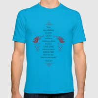 Greater Mens Fitted Tee Teal SMALL