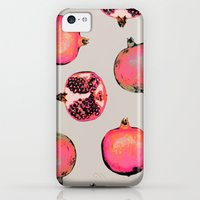 iPhone 5c Cases featuring Pomegranate Pattern by Georgiana Paraschiv