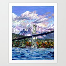The Lion's Gate, Vancouver Art Print