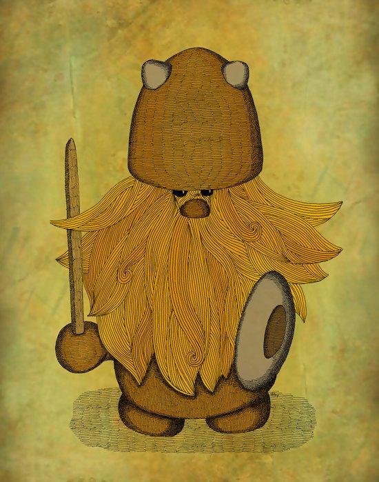 Hirsute Viking Homunculus Art Print