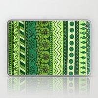 Yzor pattern 003 green Laptop & iPad Skin
