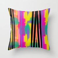 Zig Paint Throw Pillow