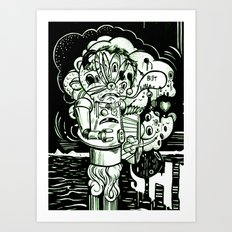 Swears Art Print