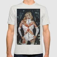 EMMA FROST Mens Fitted Tee Silver SMALL