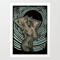 Zombie Siren Art Print
