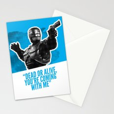 Badass 80's Action Movie Quotes - Robocop Stationery Cards