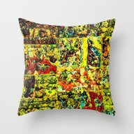 Abstract In Yellow  Throw Pillow