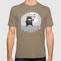 Ninja lessons: Invisibility. Mens Fitted Tee Tri-Coffee SMALL
