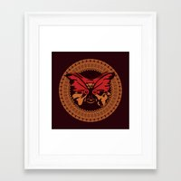 Framed Art Print featuring Puppet Butterfly by Dambar Thapa