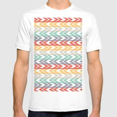 Summer Chevron  White SMALL Mens Fitted Tee