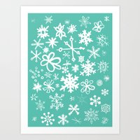 Snowflake Pond Art Print