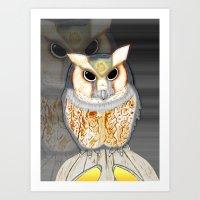 Conceptualized Owl Art Print
