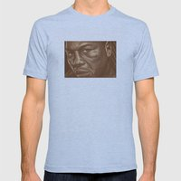 Round 9..lenox Lewis Mens Fitted Tee Athletic Blue SMALL