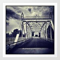 'MINTO BRIDGE' Art Print