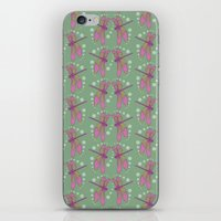 pattern with dragonflies 5 iPhone & iPod Skin