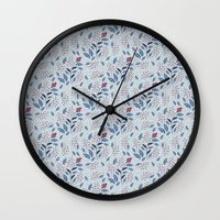 Purple Thistle Buds Wall Clock